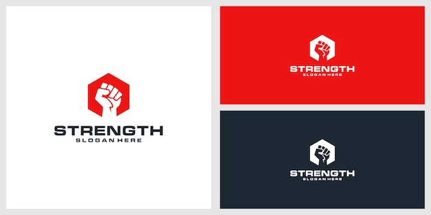Sterkte logo ontwerpsjabloon