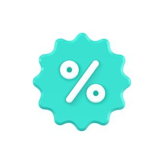 Sterlabel met procent geïsoleerd op wit