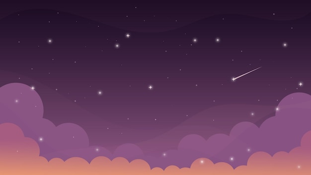 Sterren aan de nachtelijke hemel zonsondergang avondlucht