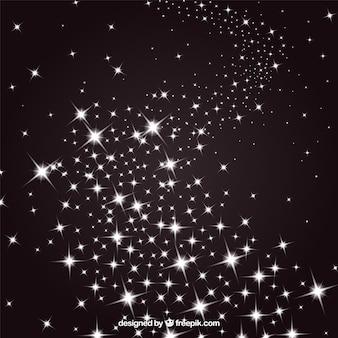 Sterren in een nachtelijke hemel