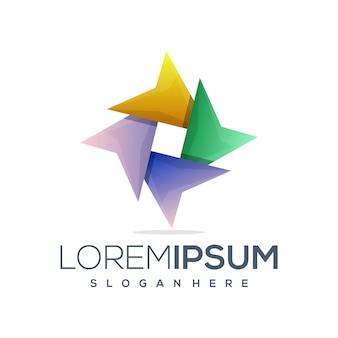 Sterren kleurrijk logo