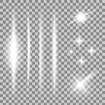 Sterren met een gloedlichteffect barsten met fonkelingen.