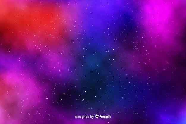 Sterren op de achtergrond met kleurovergang hemel