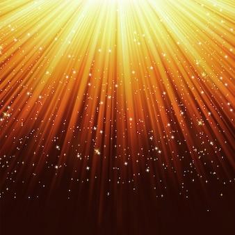Sterren op pad van paars licht.