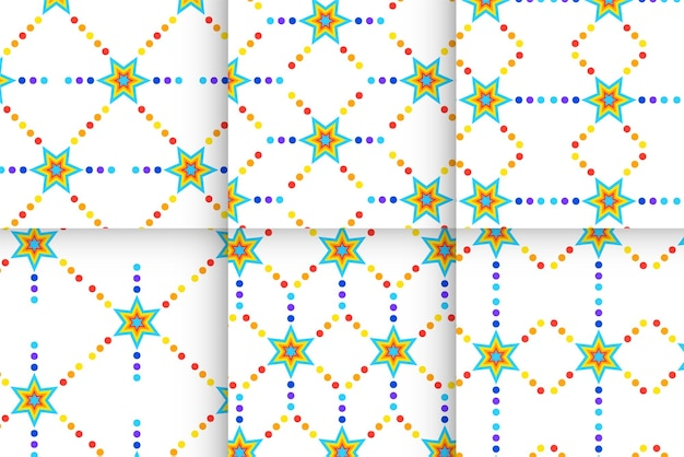 Sterren regenboog patronen set