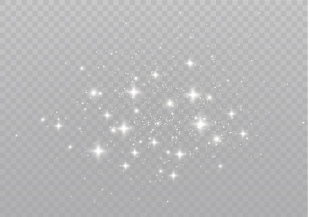 Sterren schijnen met speciaal licht sprankelende magische stofdeeltjes