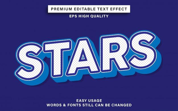 Sterren tekst effect