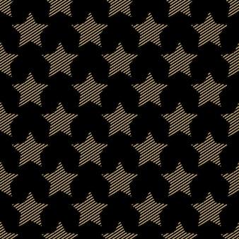 Sterrenpatroon, abstracte geometrische achtergrond. creatieve en luxe stijlillustratie