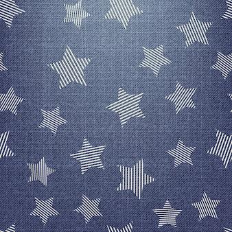 Sterrenpatroon op textiel. abstracte geometrische achtergrond, vectorillustratie. creatieve en luxe stijlafbeelding