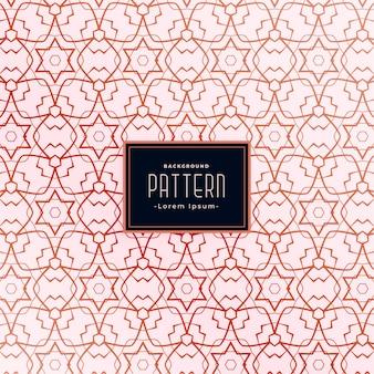Stervorm stijl abstract naadloos patroon ontwerp