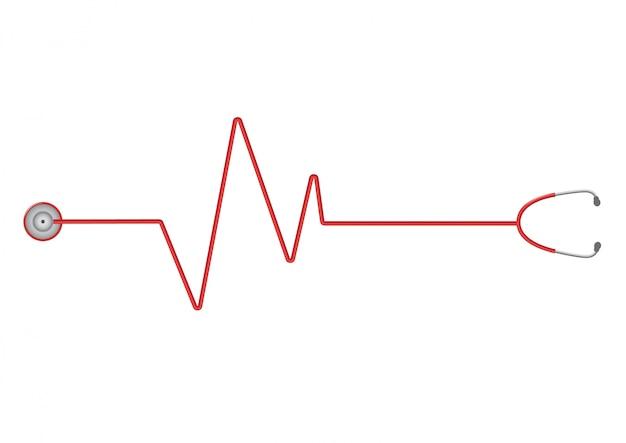 Stethoscoop logo sjabloon.