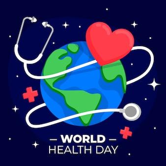 Stethoscoop met hart en aarde