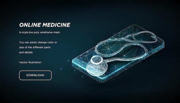 Stethoscoop op een smartphone