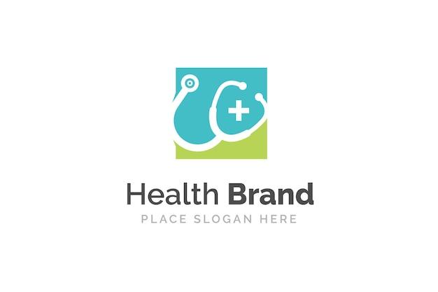 Stethoscoop pictogram ontwerp illustratie. gezondheid en geneeskunde logo sjabloon.