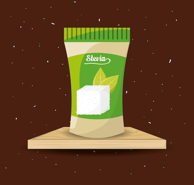 Stevia natuurlijk zoetstofpakketproduct