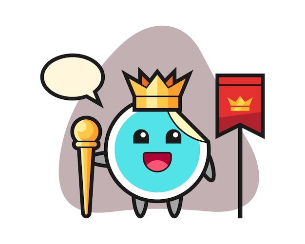Sticker cartoon als een koning