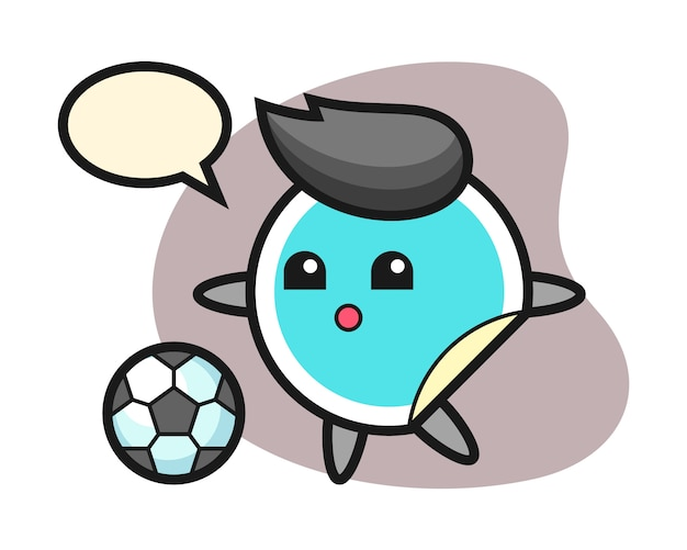 Sticker cartoon speelt voetbal