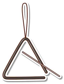 Sticker driehoek muziekinstrument