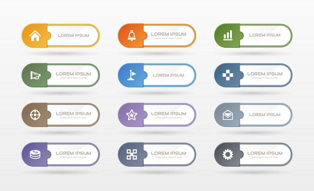 Sticker label zakelijke set