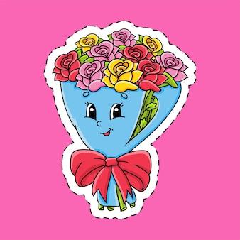 Sticker met contour. valentijnsdag.
