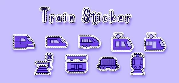 Sticker met elektrische treinlijnkunst