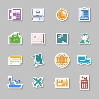 Sticker met kleurlogistieke service