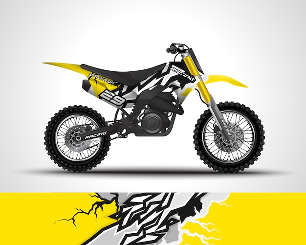 Sticker met motorcross wrap en vinyl sticker