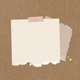 Sticker notitie vector gescheurd papier element