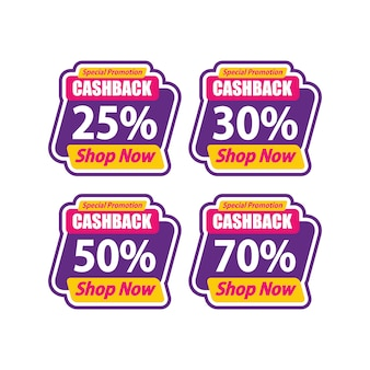 Sticker sale promotion template speciale cashback