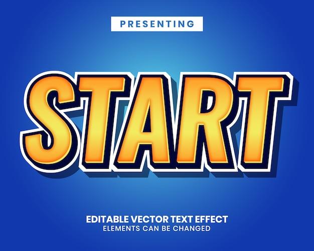Sticker tekst effect voor game titel