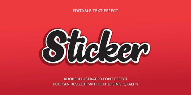 Sticker teksteffect