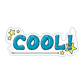 Sticker van een cartoon cool symbool