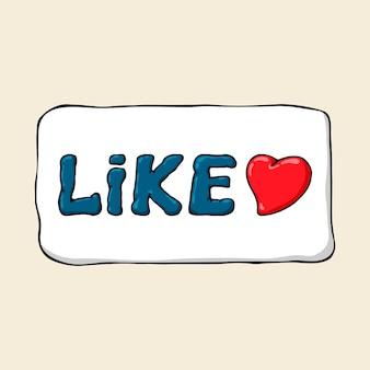 Sticker van een cartoon zoals symbool