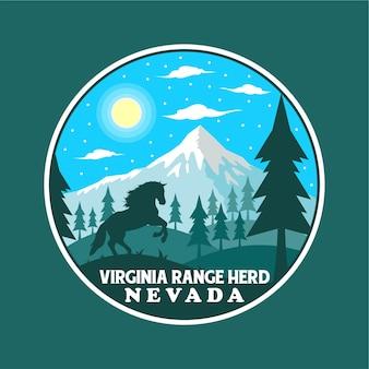 Sticker van het park van de kudde van de waaier van virginia de nationale