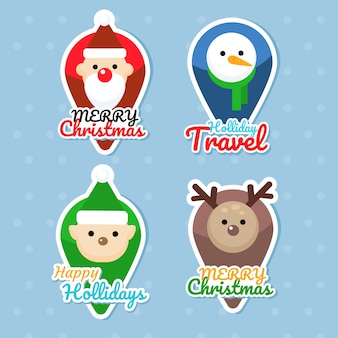 Sticker vector christmas pointers