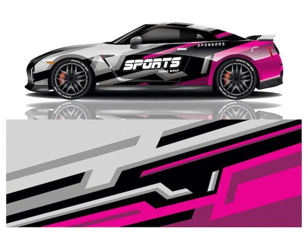 Sticker voor het inpakken van sportwagens