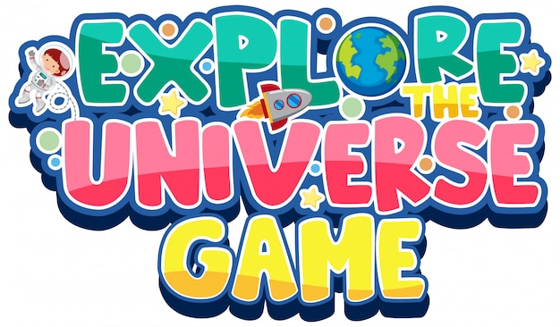 Sticker voor het verkennen van het universumspel
