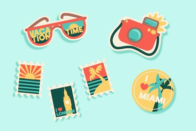 Sticker voor reizen / vakantie in de stijl van de jaren 70