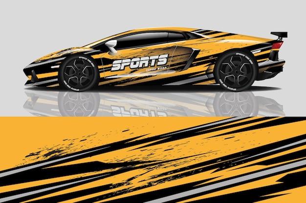 Sticker voor sportwagen