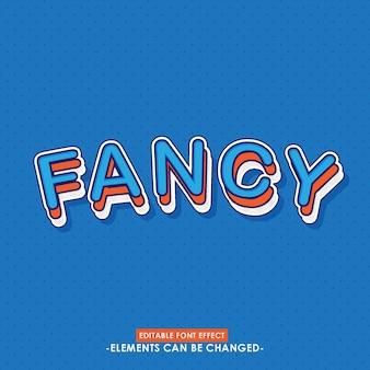 Sticker voor titel met fancy grafische stijl