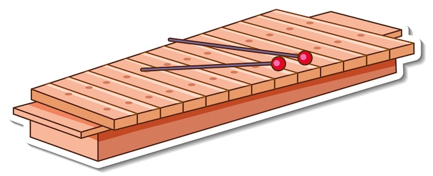 Sticker xylofoon muziekinstrument