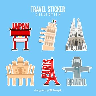 Stickercollectie reizen