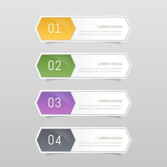 Stickeretiket kleurrijke set