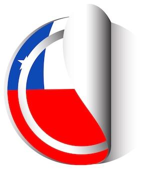 Stickerontwerp voor vlag van chili