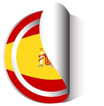 Stickerontwerp voor vlag van spanje