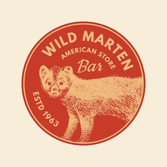 Stickers met wilde dieren in vintage stijl