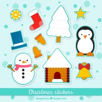 Stickers van kerstmis collection