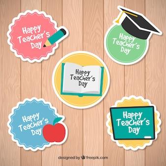 Stickers voor de dag van de leraar