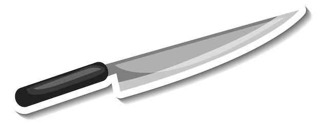 Stickersjabloon met een geïsoleerd mes