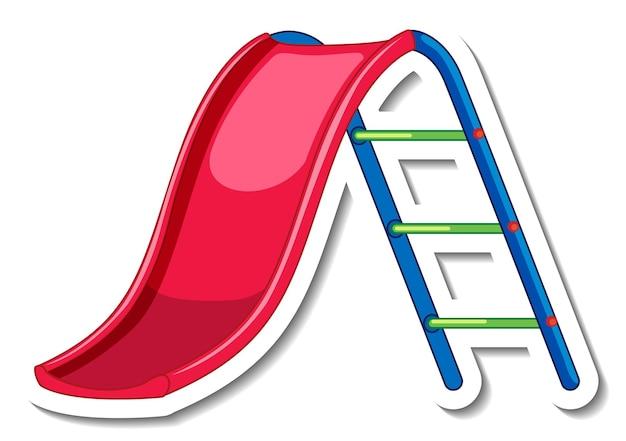 Stickersjabloon met glijbaan voor geïsoleerde speeltuin